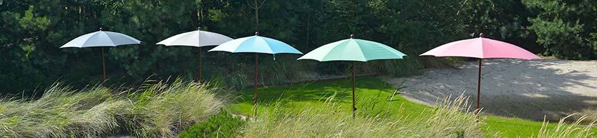 Max en Luuk parasols