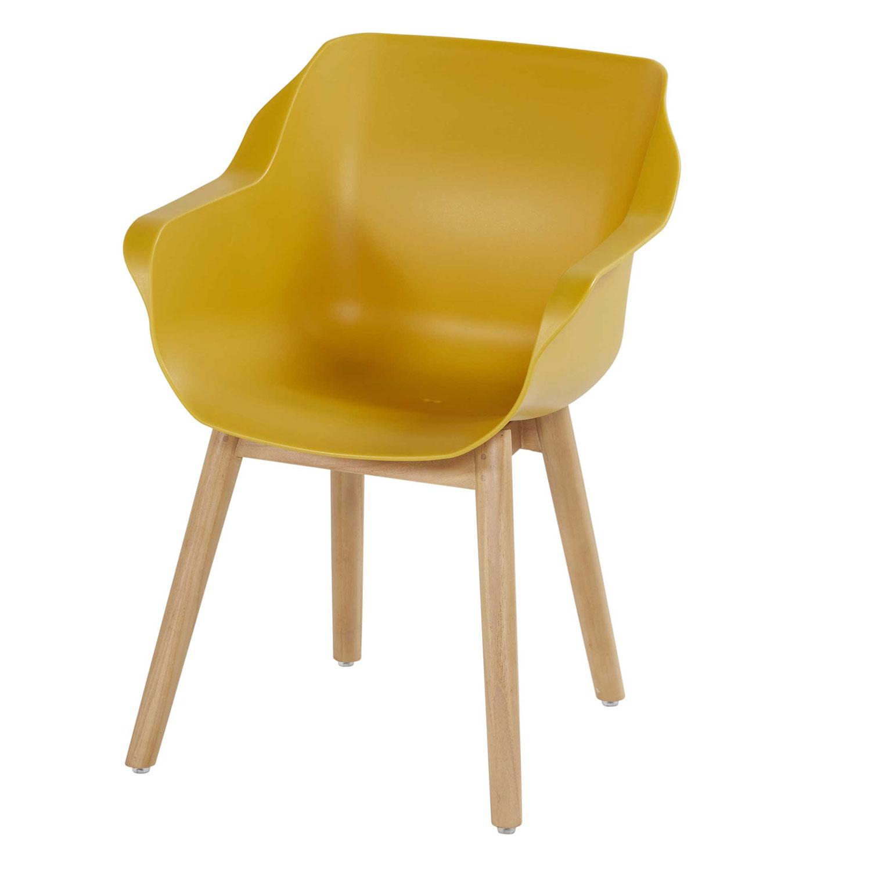 Hartman Sophie studio curry yellow-teak - Tuinstoel