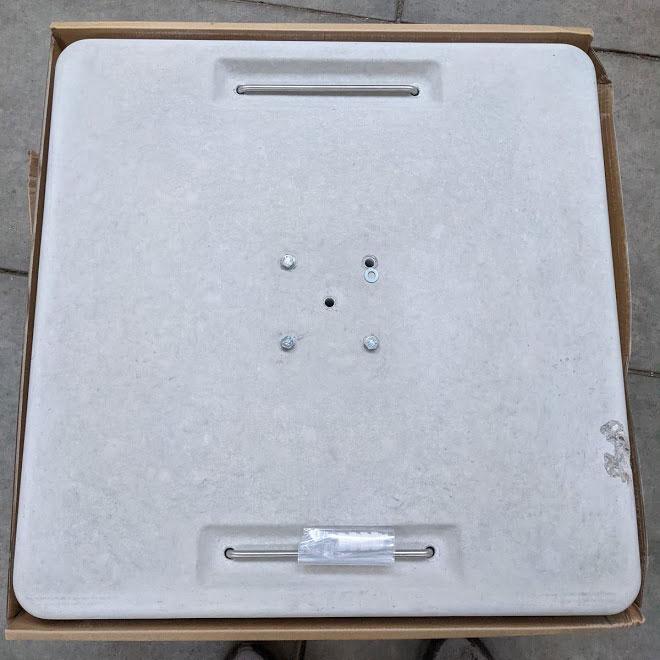 2e kansje - Parasolvoet beton 160kg voor Sombrano I