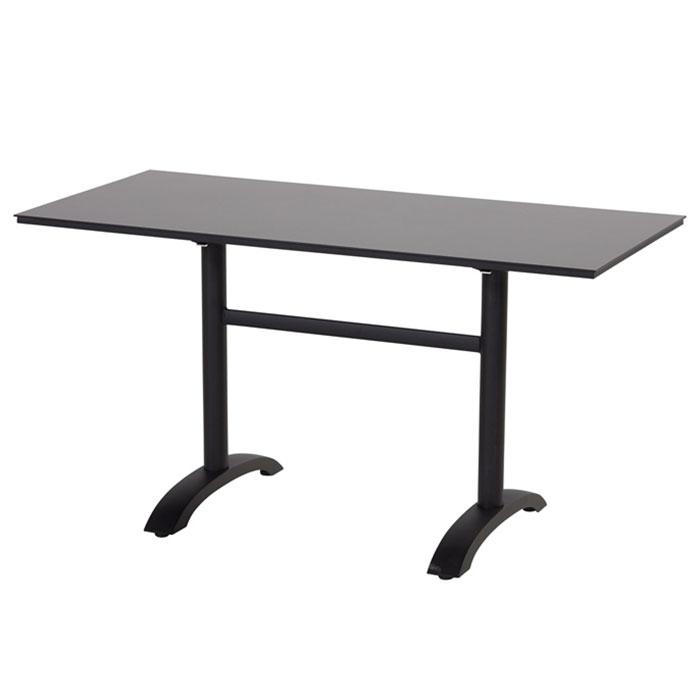 Hartman Sophie klaptafel black HPL-carbon black 138x68cm