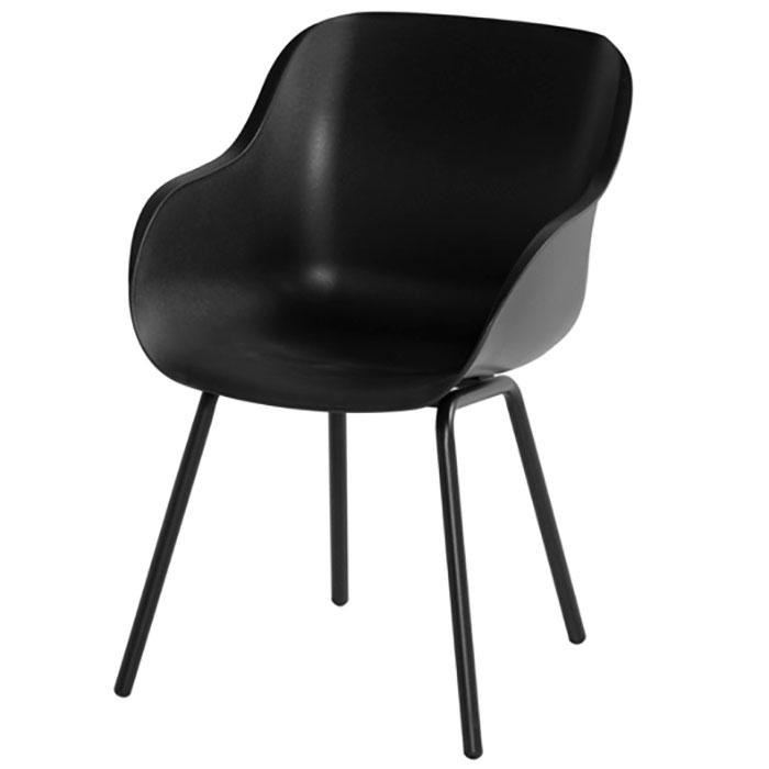 Hartman Sophie rondo carbon black - Tuinstoel elegance