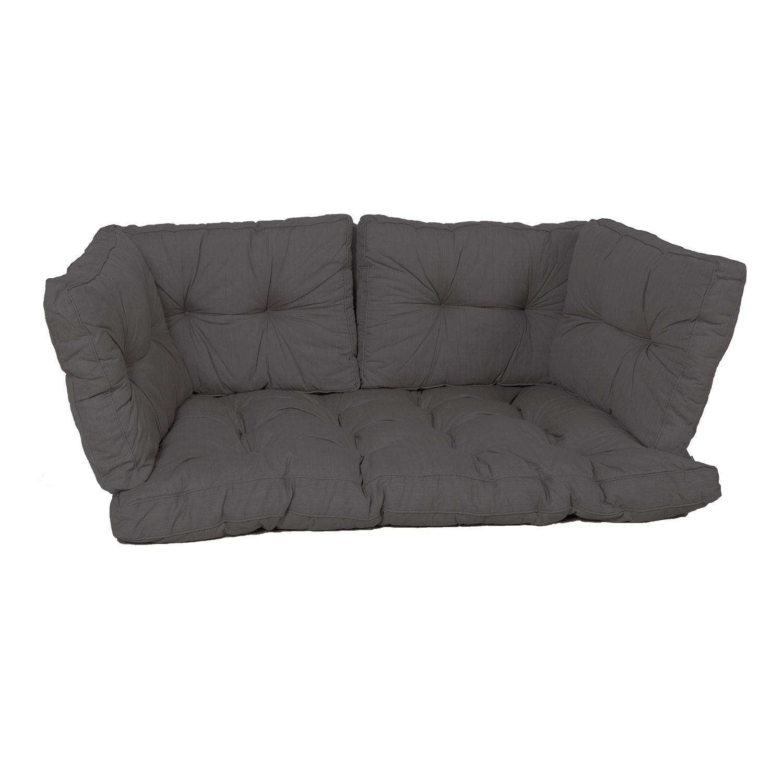 Palletkussen zit/arm/rug florance (120X80cm) - Basic black