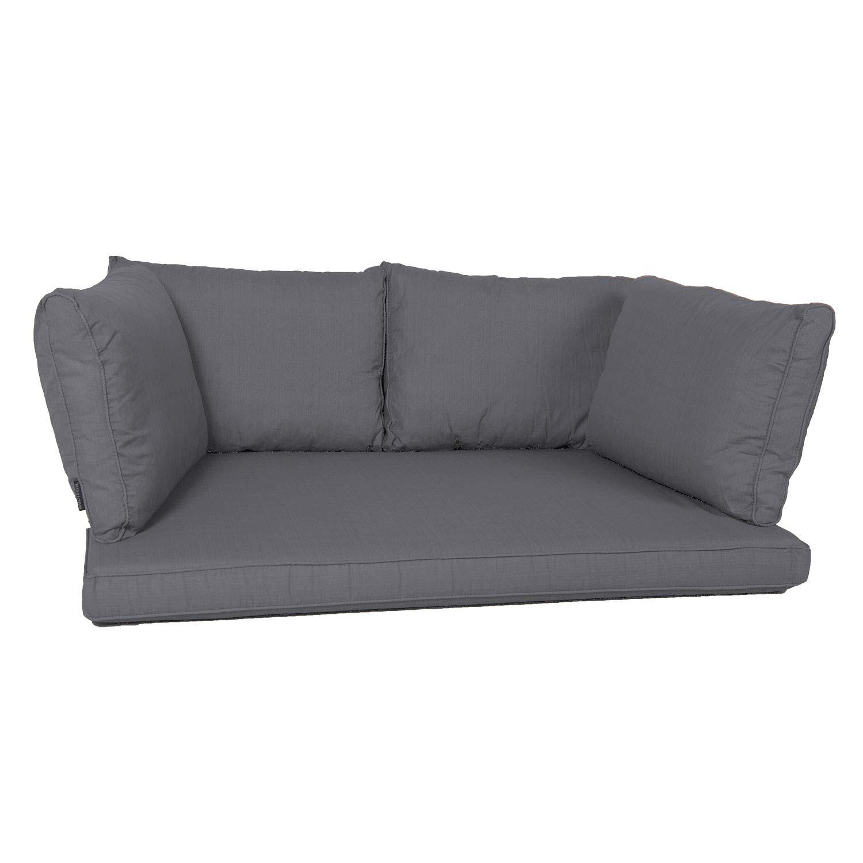 Palletkussen zit/arm/rug carré (120X80cm) - Panama grey