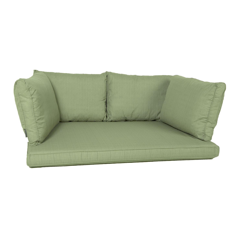 Palletkussen zit/arm/rug carré (120X80cm) - Basic green