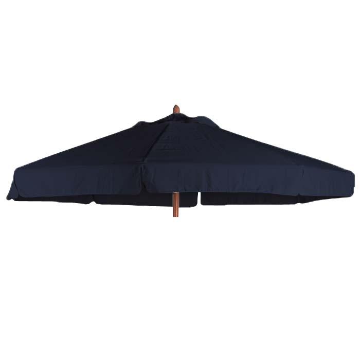 Parasoldoek Borek 300cm rond zwart met volant (olefin)