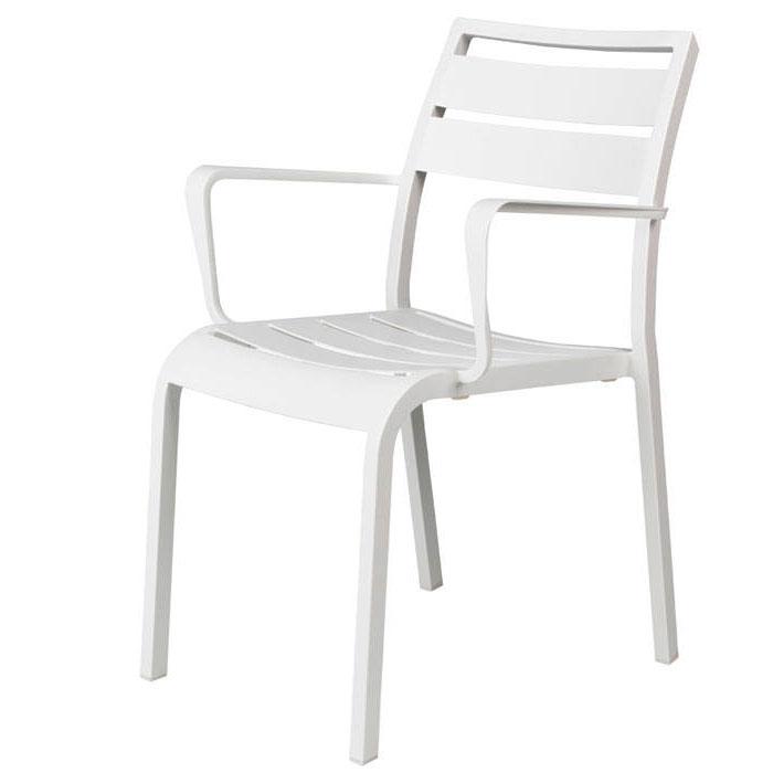 Jati en Kebon Nice SLAT stoel - White (showroomaanbieding)