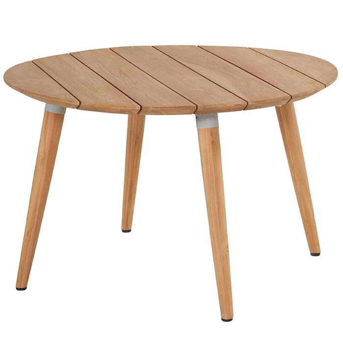Hartman Sophie studio tafel teak-misty grey Ø120cm