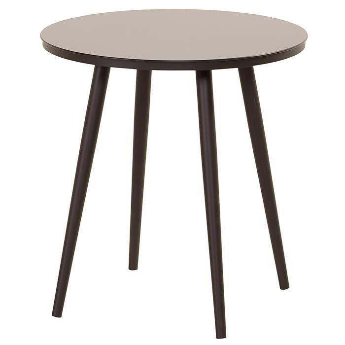 Hartman Sophie studio bistro tafel black HPL-carbon black Ø66cm