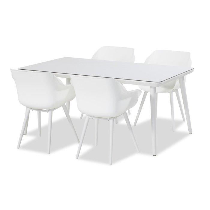 Hartman Sophie studio tuinset royal white/HPL 170x100cm