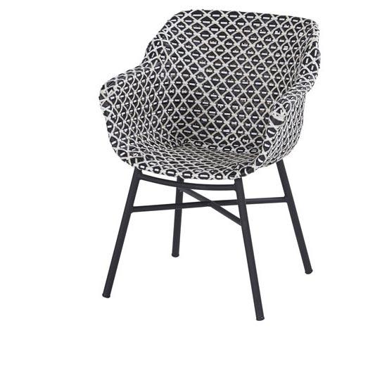 Hartman Delphine white/black-carbon black - Dining tuinstoel