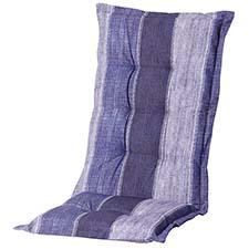 Tuinkussen hoge rug - Denim stripe blue