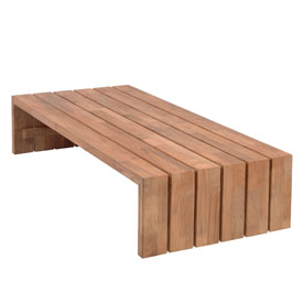 Borek Miami Beach low table teak 160x77cm