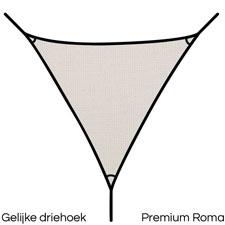 Schaduwdoek 4x4x4 driehoek premium - Umbrosa