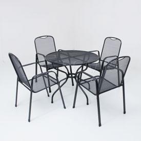 Kettler Burgos met strekmetalen tafel - 90cm