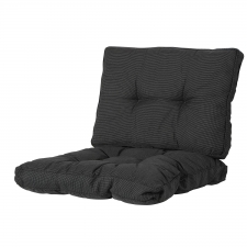 Loungekussen zit- en ruggedeelte 60x60 - Rib black