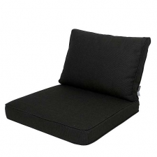 Loungekussen zit- en ruggedeelte 60x60 - Carré Rib Black