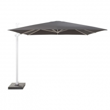 Zweefparasol Siesta 300x300cm soft grey (white frame) - 4-Seasons