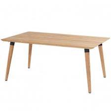 Hartman Sophie studio tafel teak-carbon black 170x100cm