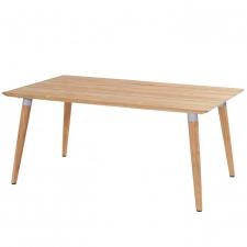 Hartman Sophie studio tafel teak-misty grey 170x100cm