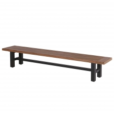 Hartman Sophie carbon black-vintage brown teak - bank 240cm