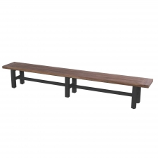 Hartman Sophie carbon black-vintage brown teak - bank 300cm