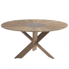Hartman Provence crossleg tafel light grey teak 150cm