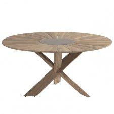 Hartman Provence crossleg tafel light grey teak 150cm (SHOWROOMAANBIEDING)