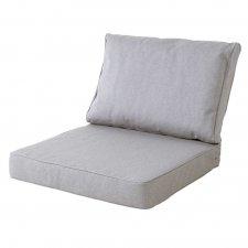 Loungekussen premium zit en rug 60x60 carré - Outdoor Manchester light grey